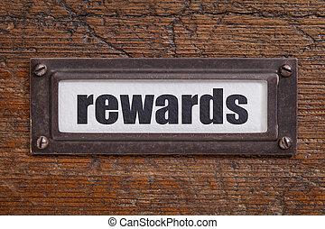 rewards- file cabinet label - rewards - file cabinet label, ...