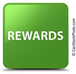 Rewards soft green square button