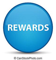 Rewards special cyan blue round button