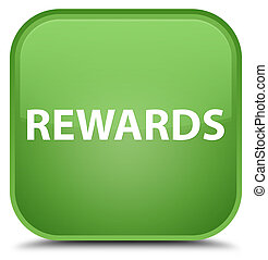 Rewards special soft green square button