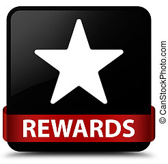 Rewards (star icon) black square button red ribbon in middle