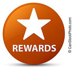Rewards (star icon) brown round button