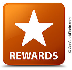 Rewards (star icon) brown square button