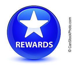 Rewards (star icon) glassy blue round button