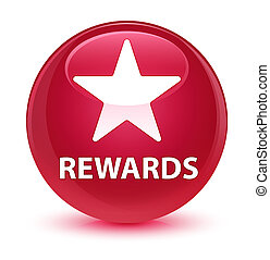Rewards (star icon) glassy pink round button