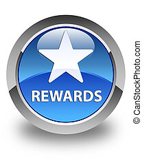 Rewards (star icon) glossy blue round button