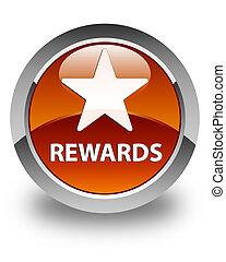 Rewards (star icon) glossy brown round button