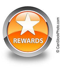 Rewards (star icon) glossy orange round button