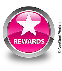 Rewards (star icon) glossy pink round button
