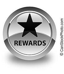 Rewards (star icon) glossy white round button