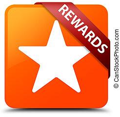 Rewards (star icon) orange square button red ribbon in corner