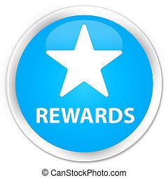 Rewards (star icon) premium cyan blue round button
