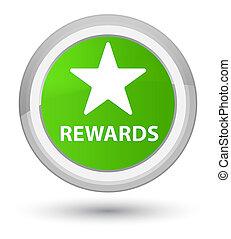 Rewards (star icon) prime soft green round button