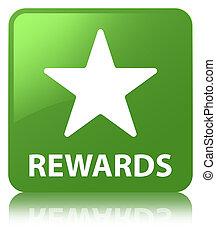 Rewards (star icon) soft green square button