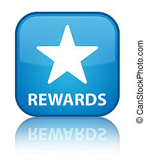 Rewards (star icon) special cyan blue square button