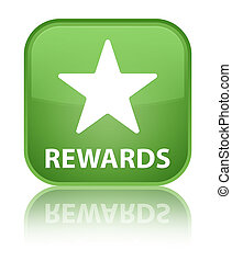 Rewards (star icon) special soft green square button