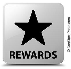 Rewards (star icon) white square button - Rewards (star icon...