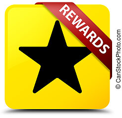 Rewards (star icon) yellow square button red ribbon in corner