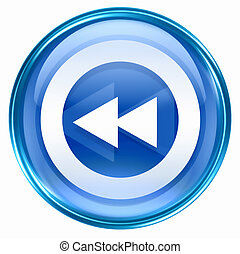 Rewind Back icon blue