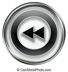 Rewind Back icon grey