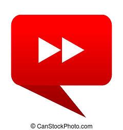 rewind bubble red icon