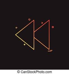 Rewind icon design vector