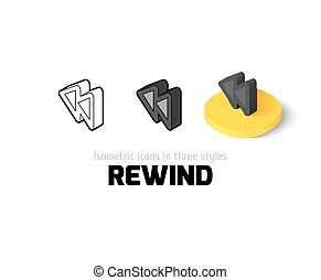 Rewind icon in different style