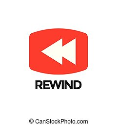 Rewind video graphic icon design template isolated