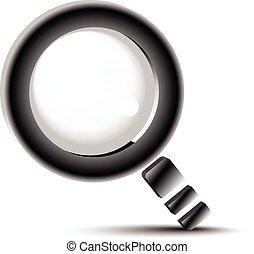 rewizja, guzik, szkło, szkło powiększające, symbol,...