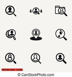 rewizja, ludzie, ikony