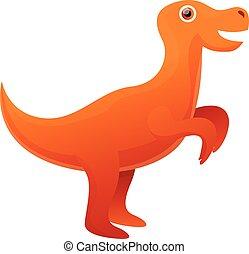 Rex dino icon, cartoon style