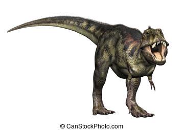 rex tyrannosaurus, attacco