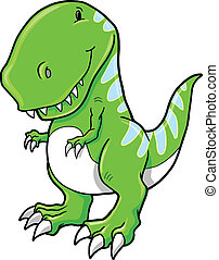 rex tyrannosaurus, vetorial, dinossauro