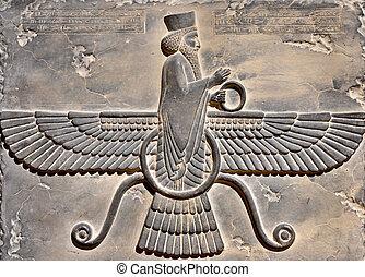 rey, antiguo, persa