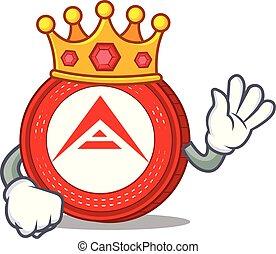 rey, arca, caricatura, moneda, mascota