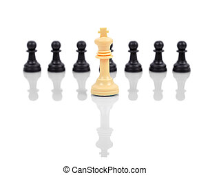 rey, blanco, ajedrez