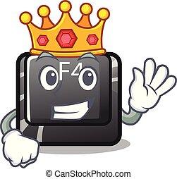 rey, botón, computadora, f4, mascota