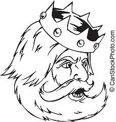 rey, cabeza