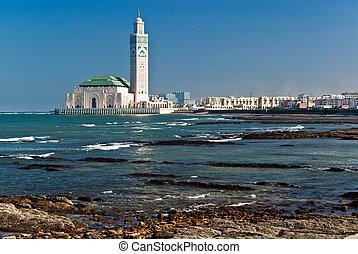 rey, casablanca, ii, marruecos, mezquita, hassan