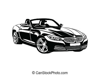 rey, deporte, negro, coches