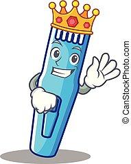 rey, estilo, recortadora, caricatura, mascota