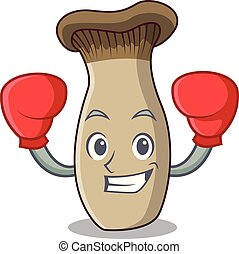 rey, hongo, boxeo, carácter, trompeta, caricatura