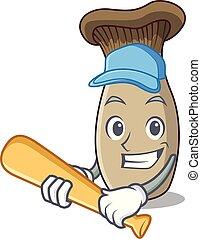 rey, hongo, carácter, béisbol que juega, trompeta, ...