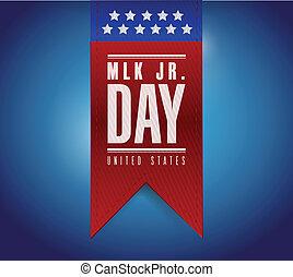 rey, luther, banner., jr, señal, martin, día