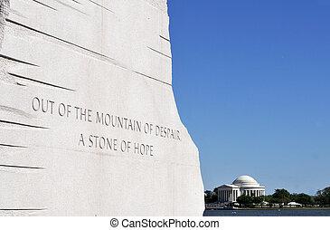 rey, luther, o, martin, monumento, vista