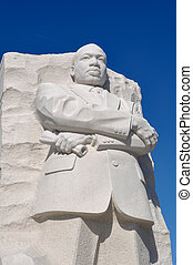 rey, luther, washington dc, estatua, martin