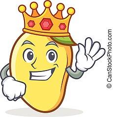 rey, mango, carácter, caricatura, mascota