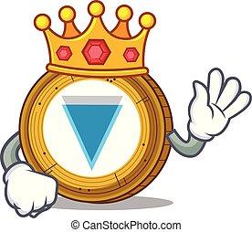 rey, moneda, caricatura, borde, mascota