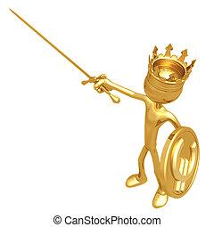 rey, moneda, protector, euro