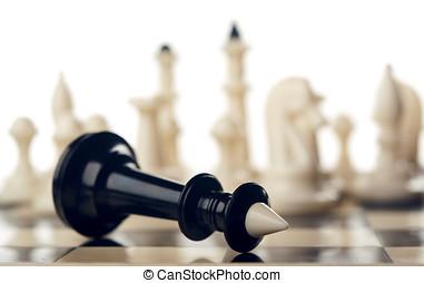 rey, negro, ajedrez